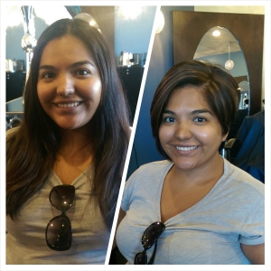 Before and After. September 2014. Thank you, Mayra.