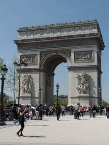 Arc de Triomphe. Napoleon I's triumphant Arc to commemorate France's victory in battle.