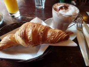 My breakfast everyday was either a croissant or pain au chocolat. Yum!